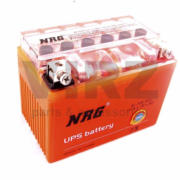 Аккумуляторная батарея 12V4Ah (114x70x86) (гелевая, необслуж.) NRG