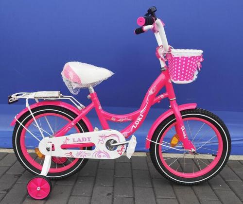 Велосипед Loky lady 18 малиновый
