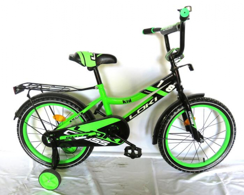 Велосипед Loki cross 16 зеленый