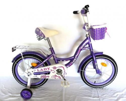Велосипед Loky lady 14 фиолетовый