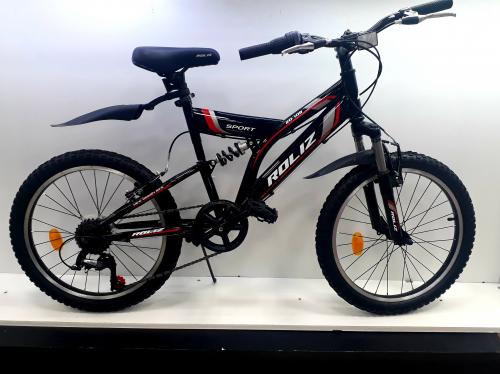 """Велосипед 20"""" Roliz (108) черно-красный"""