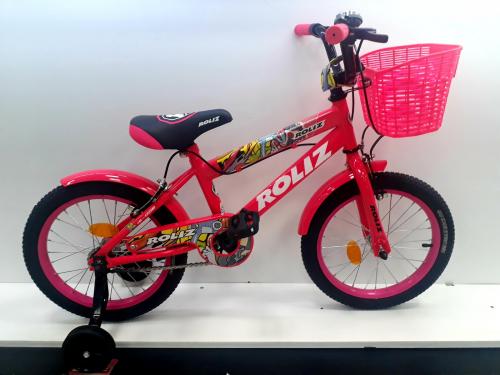 """Велосипед ROLIZ 16"""" (002) розовый"""