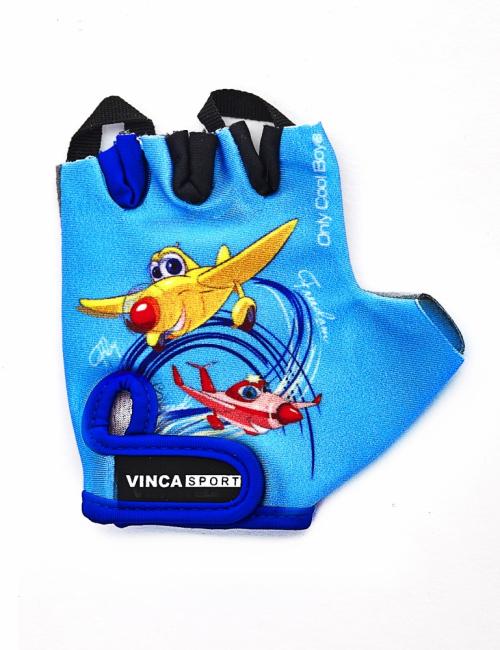 Перчатки велосипедные детские,child plane blue