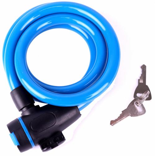 Замок велосипедный,трос, 12х1200, blue